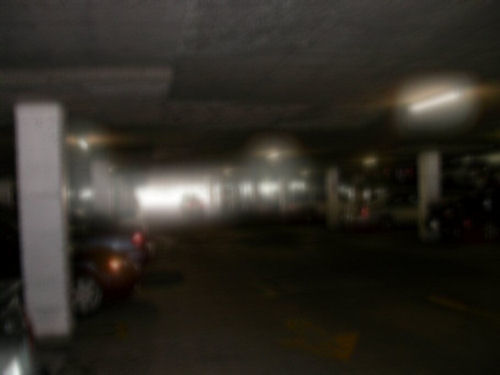 parking garage after LASIK