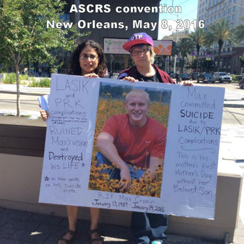 ASCRS protest in memory of Max Cronin